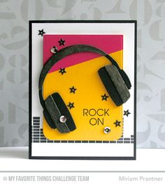 Keep On Rockin', Blueprings 24 Die-namics, Headphones Die-namics - Miriam Prantner  #mftstamps