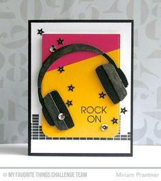 card music MFT headphone MFT Keep On Rockin', MFT Blueprints 24 Die-namics, MFT Headphones Die-namics - Miriam Prantner Birthday Cards For Boys, Masculine Birthday Cards, Handmade Birthday Cards, Masculine Cards, Boy Cards, Pop Up Cards, Kids Cards, Scrapbooking, Scrapbook Cards