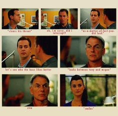 NCIS - I love this!!!! Hahahaha I love her little look of pride at it and the boys are like all wait what I was sure he was going to choose me!!!