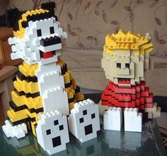 Calvin and Hobbes in Lego!
