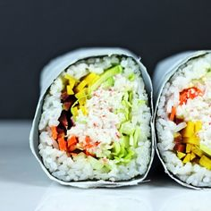 Make your own Sushirrito at home and laugh at the normal sized california rolls people are still eating. Try the huge San Fransisco trend!