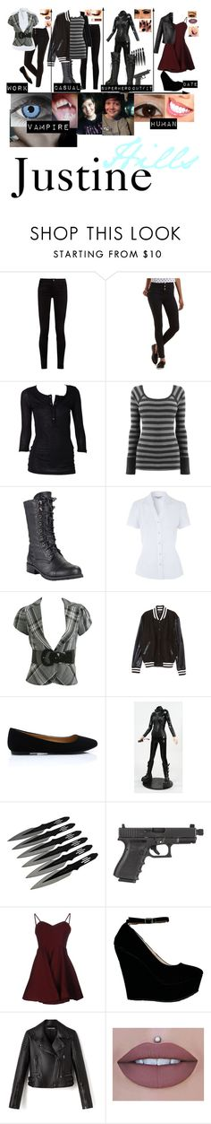 """Justine hills - Oc"" by j-j-fandoms ❤ liked on Polyvore featuring Gucci, Refuge, Wet Seal, Simone Perele, Glamorous, Chapstick and Joie"