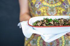 Wild Rice Quinoa & Mixed Mushroom Salad