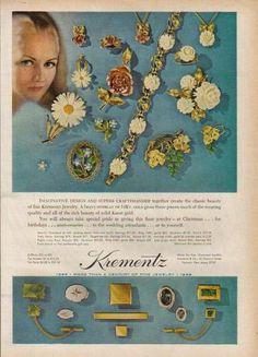 1968 KREMENTZ JEWELRY Print Ad