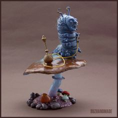 CATERPILLAR - fanart - Polymer Clay Sculpture by buzhandmade.deviantart.com on @deviantART