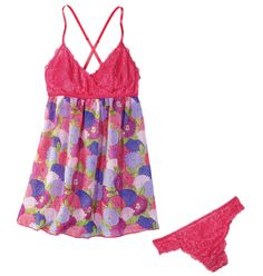 Love My Mum Chemise  Price: $19.99  (available in S, M, L, & XL) 2-piece set. Pink lace bodice includes lace panty. Order today at http://abagtas.avonrepresentative.com/