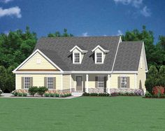 Cottage House Plan with 1450 Square Feet and 3 Bedrooms from Dream Home Source | House Plan Code DHSW50099
