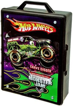 The Hot Wheels Monster Jam Truck Case can hold up to 15 Monster Jam trucks 1:64 size such as the Grave Digger Stone Crusher or Eradicator! This rugged and durable case features a carrying handle so...