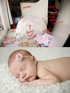 set up tips for newborn baby photography