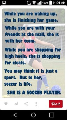 I am a soccer player