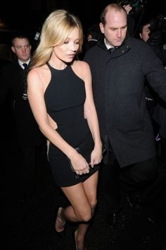 LBD with mesh nude cut outs-kate moss