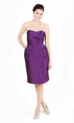A line Sweetheart Taffeta With Ruching Sleeveless Knee Length Bridesmaid Dress