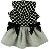 Fitwarm Cute Bowknot Knitted Pet Clothes for Dog Hooded Dresses Coats Jackets, Black, Small ** To view further for this item, visit the image link. (This is an affiliate link) Small Dog Coats, Small Dog Clothes, Pet Clothes, Dog Clothing, Dress Clothes, Knitting Patterns For Dogs, Dog Clothes Patterns, Free Knitting, Hooded Sweater Dress