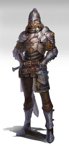 Male Human Fighter Knight Warrior Plate Armor Longsword Grust