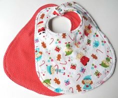 Hey, I found this really awesome Etsy listing at https://www.etsy.com/listing/169469938/christmas-baby-bibs-set-of-2-holiday