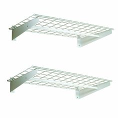 HyLoft 00777 36-by-18-Inch Wall Shelf with Hanging Rod, 2-Pack