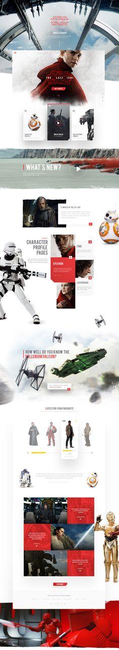 Star Wars: The Last Jedi Website Concept
