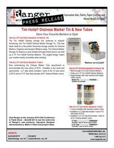 Distress Maker Tin Tubes 2016 PR