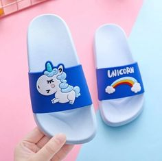 Unicorn Cat Rainbow Slippers Soft Kid Sandals Casual Walking Pontoufle