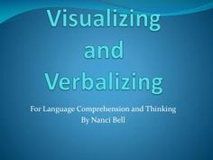 """Visualizing and Verbalizing Lindamood-Bell """"If I can't picture it ..."""
