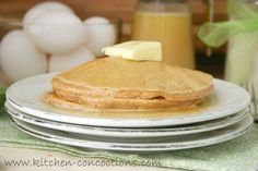 Cinnamon Pancake Mix and Vanilla Buttermilk Syrup #Breakfast #Recipes
