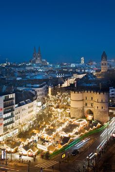 The Rudolphplatz Christmas Market (Fairy Tale Market) in Cologne, Germany