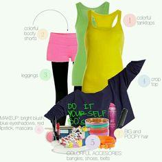 80's workout clothes