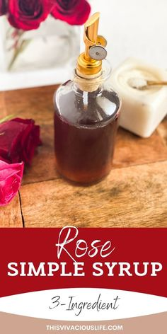 This floral scented rose simple syrup is perfectly sweet with just a hint of delicate flowery flavor. It is perfect for adding to mocktails, hot drinks, desserts and much more! Gluten Free Scones, Gluten Free Cinnamon Rolls, Gluten Free Donuts, Gluten Free Baking, Gluten Free Desserts, Brown Sugar Simple Syrup, Strawberry Simple Syrup, Paleo Donut, Healthy Donuts
