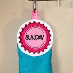 Tutorial – Towel Topper with Bottle Cap Embroidery Design