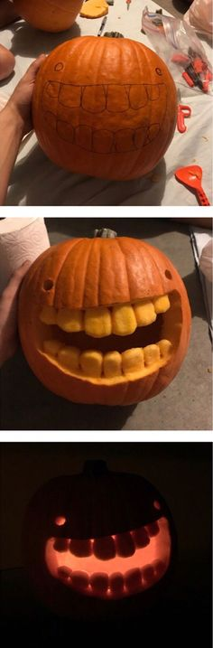 Wanted to make the goofiest looking pumpkin I could. I think I did alright funny pictures Funny Pumpkins, Halloween Pumpkins, Fall Halloween, Halloween Crafts, Happy Halloween, Halloween Party, Halloween Stuff, Halloween Ideas, Funny Pumpkin Carvings