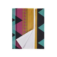Savannah Beach Towel Fuchsia Gld by Nine Space