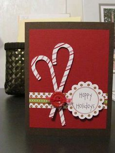 DIY;) Card: CANDY CANE CHRISTMAS