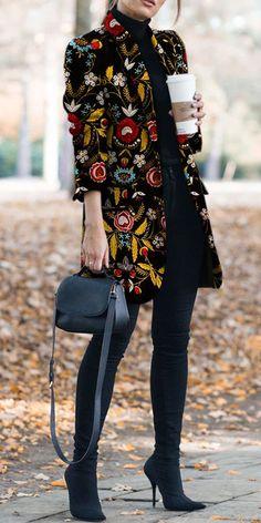 Herbst und Winter Mode gedruckt Langarm Anzug Jacke & Strickjacke Source by erican Komplette Outfits, Girly Outfits, Polyvore Outfits, Winter Outfits, Fashion Outfits, Fashion Tips, Winter Clothes, Fashion Websites, Fashion Fashion