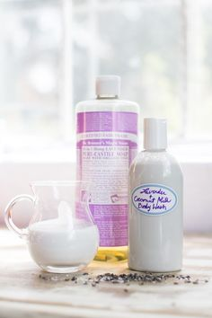 Coconut Milk Body Wash Mix together a 1/4 cup full fat coconut milk with 1/3 cup liquid castile soap. I love Dr. Bronner's. You can use lavender scented soap or add essential oils for a relaxing scent. Combine in a squeeze bottle and lather up. The mixture tends to separate a bit after sitting so you might need to shake it up a bit before using. Oh, and this can also be used as shampoo!