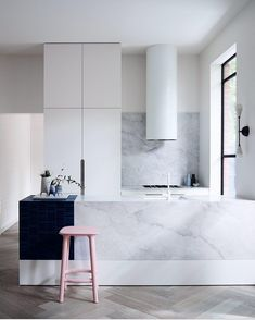 """1,214 Likes, 17 Comments - @artedomus on Instagram: """"Heavens! This Prahran home takes you into the clouds with our Elba marble counter and splashback…"""""""