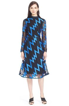 Christopher Kane Zigzag Lace Fit & Flare Dress available at #Nordstrom