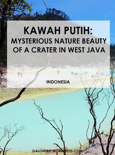 Kawah Putih, or White Crater, was one a taboo place to visit, but now its popularity arises as a pre-wedding photoshoot location and a hip place of interest no one should miss in Ciwidey, West Java