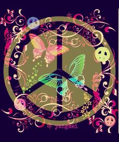 ♡ peace and love x Hippie Peace, Happy Hippie, Hippie Love, Hippie Style, Hippie Chick, Peace Love Happiness, Peace And Love, Peace Sign Art, Peace Signs