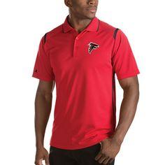 Men's Atlanta Falcons Antigua Red Merit Polo