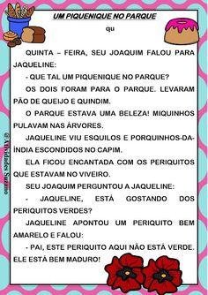 Textos para alfabetização | Atividades Pedagogica Suzano Portuguese Language, Classroom, Teaching, How To Plan, Education, Writing, School, Window, Blog