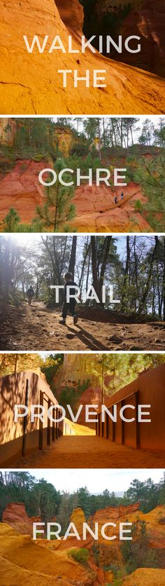 Walking the Ochre Trail in Provence, France is an amazing experience. Breathtaking scenery and a family friendly walk through an old ochre quarry in Roussillon, France. Find out how to get there, where to park, and when to go!