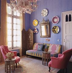 50 Best Moroccan Living Room Decor Ideas - Home Decor & Design Bohemian Interior Design, Interior Design Inspiration, Home Interior Design, Design Ideas, Bohemian Decorating, Kitchen Interior, Design Trends, Design Projects, Design Interiors