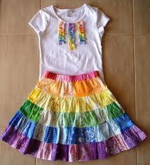 girl rainbow clothing