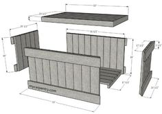 Cedar Chest Plans - Build Your Own Cedar Chest The easiest and quickest way to build your chest is to purchase cedar decking and pre cut The chest is also almost free if you use Carpentry Projects, Diy Wood Projects, Wood Crafts, Pallet Chest, Wood Chest, Wooden Toy Boxes, Wood Boxes, Wooden Trunks, Bois Diy