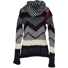 DESIGUAL Turtleneck featuring polyvore women's fashion clothing tops sweaters black turtleneck top multi color sweater turtle neck top colorful sweaters long sleeve turtleneck top