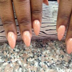 Stilleto nails-keep the color nice and simple, so is everything else!!!!!!!