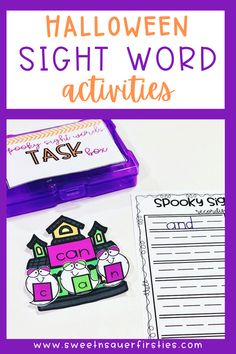 Are you looking for a spooky fun way to engage your students will sight words? These are the perfect hands-on activities that your students will LOVE to play during the Halloween season! Use these Halloween sight word activities during literacy centers, Daily 5 or guided reading groups. You can also use these building sight word activities for morning work or for an early finishers activity. These Halloween literacy center activities are spooky and fun!