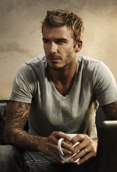 Casual David #Beckham. Still sexy after all these years.