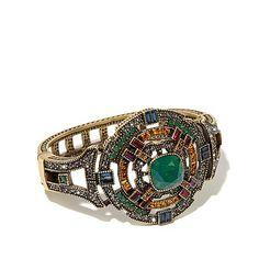 "Heidi Daus ""The Regent"" Geometric Disc Hinged Bracelet at HSN.com"