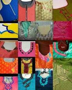 Chudidhar Designs, Churidhar Neck Designs, Diya Designs, Neck Designs For Suits, Blouse Back Neck Designs, Neckline Designs, Hand Designs, Sleeve Designs, Salwar Neck Patterns